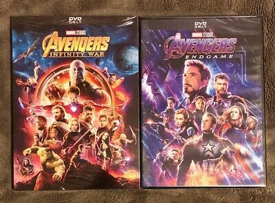 Avengers Infinity War and Avengers Endgame 2-DVD Bundle Brand New Free Shipping