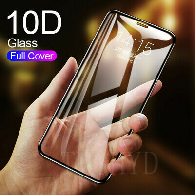 For Apple iPhone 11 Pro XS Max XR X Full Curved Tempered Glass Screen Protector/