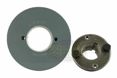 """Cast Iron 4"""" 2 Groove Dual Belt B Section 5L Pulley w/ 1-1/8"""" Sheave Bushing"""