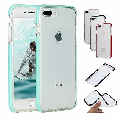 For iPhone 7 Plus 8 Plus Soft Silicone Case Crystal Clear TPU Shockproof Cover