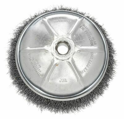 """Weiler 6"""" Crimped Wire Cup Brush, Arbor Hole Mounting, 0.020"""" Wire Dia. 1-1/4"""""""