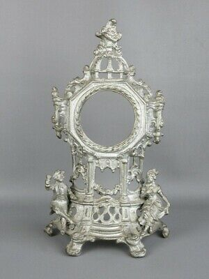 Antique Frame Cast Iron with Statue for Watch Period End XIX Century