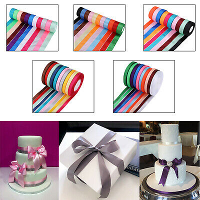 Double Sided Satin Ribbon Rolls 10mm 25mm 40mm Width for Gift Wrapping 300 Meter
