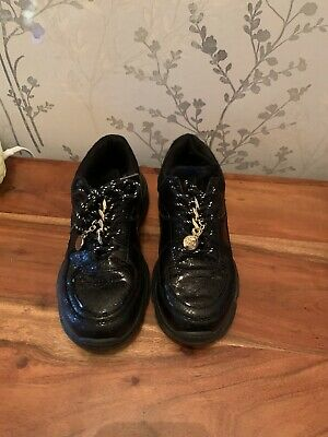 River Island Girls Trainers / Shoes Black Chunky Sole Size 1