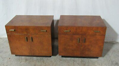 John Widdicomb Pair Nightstands Tables Modern