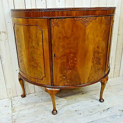 Victorian Demi Lune Commode Drinks Cabinet
