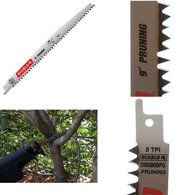 Reciprocating Saw Blade 9 In New 5 TPI Fleam Ground Pruning Durable 5 Pack