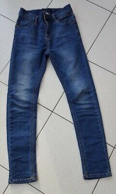 Boy's NEXT skinny blue denim jeans, adjustable waist, 11 years EUR146cm VGC