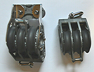 Lewmar 60Mm Racing Triple Blocks With Becket And Cleat