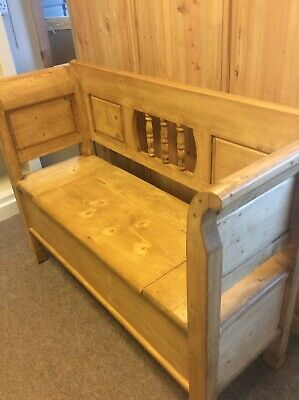 Antique Pine Monks Bench Settle