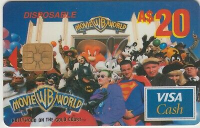 Warner Brothers Movie World Australia $20 Super Hero reward VISA card redeemed