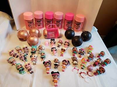 LOL Surprise Dolls, Lot of 42 Dolls some with Cans and Balls and Assorted Loose.