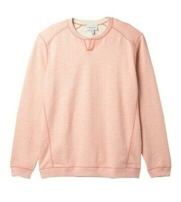 TOMMY BAHAMA Flipsider Abaco Reversible Sun Coral Heather Sweater XXL NWT