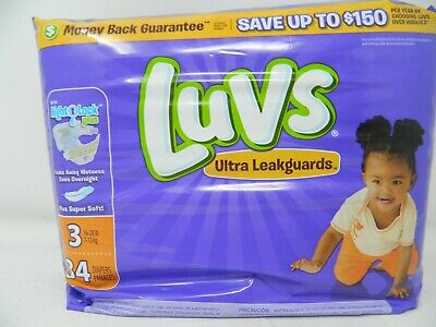 Luvs with Ultra Leak guards, Size 3 Diapers, 34 ea