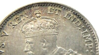 1911 Godless Canada 5 Cents Small Silver Canadian Circulated George V Coin M898