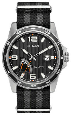 Citizen Eco-Drive Men's Power Reserve Indicator Black 42mm Watch AW7030-06E
