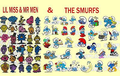 2 In 1, Lil Miss & Mr Men + The Smurfs, Pes Embroidery Machine Designs Cd