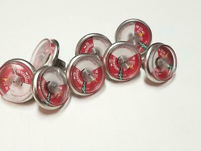 Lot of 8 0-400 PSI Fire Extinguisher Gauges USE WITH WET AGENT ONLY