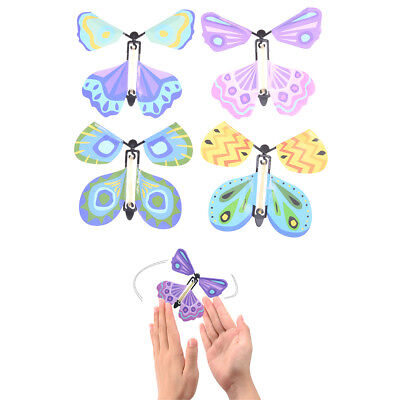 Magic flying butterfly Surprising Gift Wind up Magic Kids Toy Creative Gift  GG