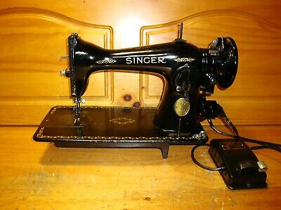 1941 Wwii Singer Sewing Machine Model 15-91 ,Blackside, Collector, Serviced