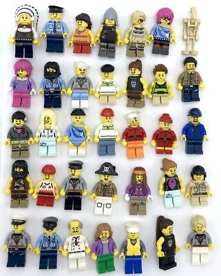 Lego 100 New Lego Minifigures Town City Series Boy Girl Town People Set