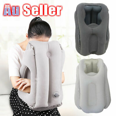 Comfortable Inflatable Cushion Air Travel Pillow Neck flight Support Nap AU