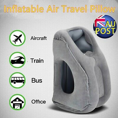 Portable Inflatable Air Travel Pillow Cushion Neck flight Relax Support Nap AU