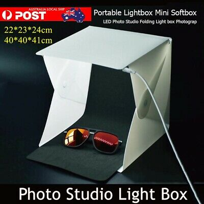 Mini LED Portable Photo Studio Photography Light 4 Colors Backdrop Cube Box AU