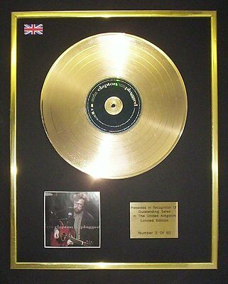 Eric Clapton  Unplugged Cd Gold Disc Record Free P&P!