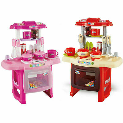 Portable Electronic Kids Kitchen Toy Pretend Play Set Cooking Chef Gift Xmas UK
