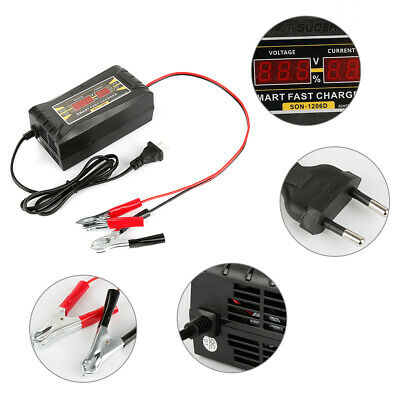 12V 6A Auto Fast Smart Lead-Acid GEL Battery Charger For Car Motorcycle LCD US W