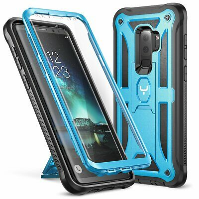 Galaxy S9+ Plus Case, YOUMAKER Heavy Duty Protection Kickstand with Built-in