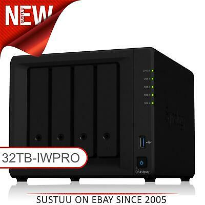NEW! Synology DiskStation DS418PLAY 32TB (4 x 8TB SGT-IW PRO) 4 Bay NAS Unit
