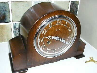 RESTORED 1930's STRIKING MANTLE CLOCK BY ENFIELD