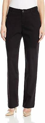 LEE Womens Relaxed Fit All Day Straight Leg Pant, 6 Long, Black