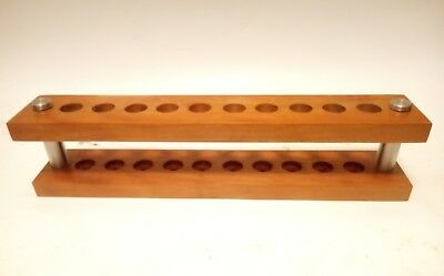 cherry wood 10 multiple razors safety razor shaving stand made in the USA