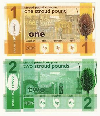 STROUD 1 and 2 Pounds (2009) Local currency notes - UNC.