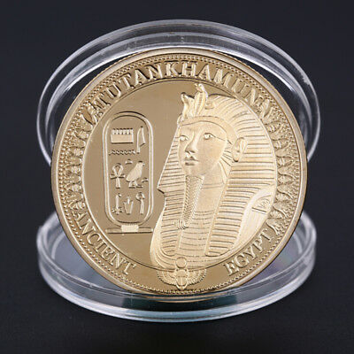 Gold Plated Coins Ancient Egypt Sphinx Coins Collection Gift Challenge CoinZQW
