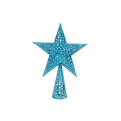 1 pc Christmas Tree Topper Glittering Star Xmas Treetop Shiny Ornament for Hotel