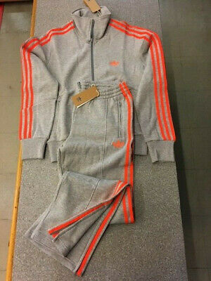 Adidas Tuta Donna Originals Cotone Firebird Woman Tracksuit Grey Sconto50% Tg.44