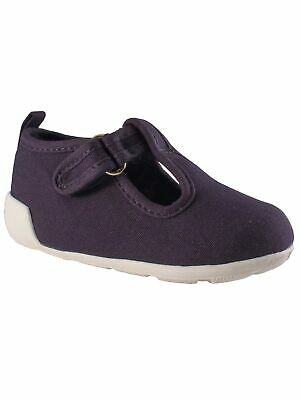 Baby Deer Girls Navy Canvas T-Strap First Steps Casual Sneakers 2-4 Baby