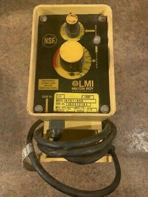 LMI Milton Roy A151-95S Indoor/Outdoor Electromagnetic Dosing Pump 1GPH 110PSI