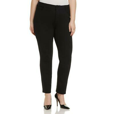 NYDJ Womens Sheri Slim Ponte Stretch Workwear Straight Leg Pants Plus BHFO 2969