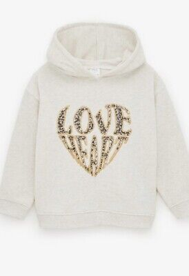 Zara Girls Plush Sequinned Hoodie & Joggers Age 6 Years Current Stock