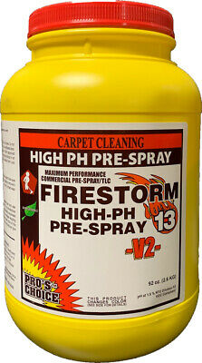 Pro's Choice Firestorm Carpet Cleaning Prespray, with new V2 technology