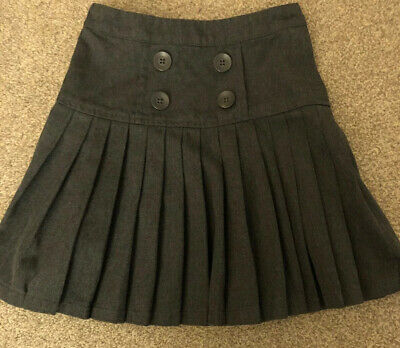 Girls Grey Next Pleated school skirt age 5 years