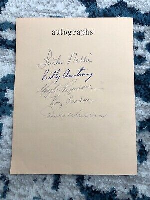 Sons of the Pioneers Autographed Pamphlet