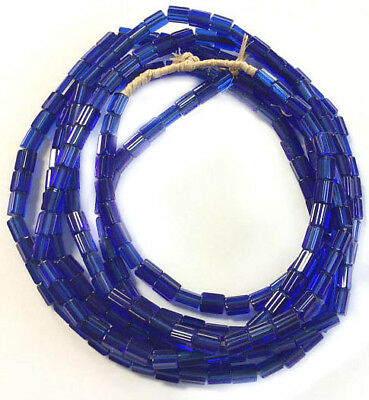 Fine Vintage Czech Crystal Russian blue Faceted Glass African Trade beads