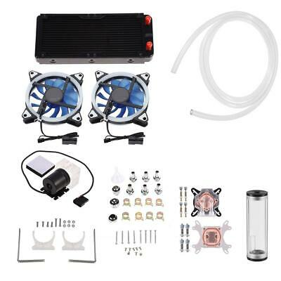 DIY PC Liquid Water Cooling Radiator Kit 240mm Pump Reservoir CPU GPU HeatSink👍