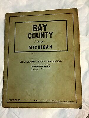 Circa 1960 Bay County Plat Book, Michigan , Over 2700 Farmers Named